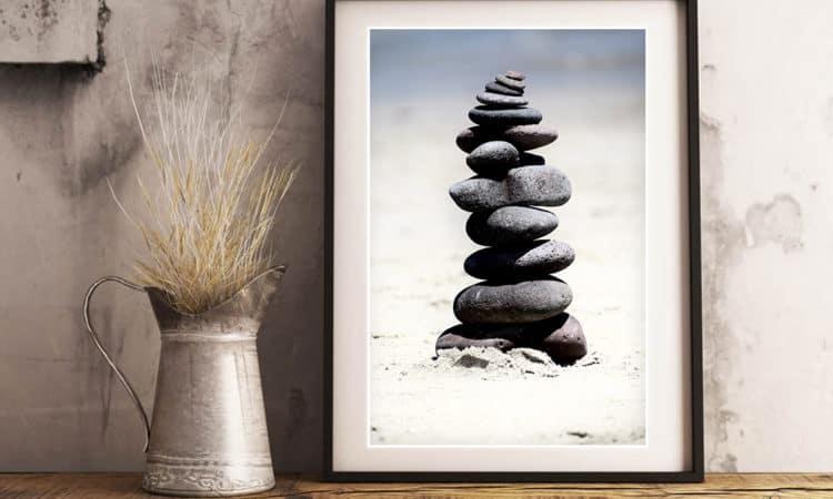 mockup stones tower