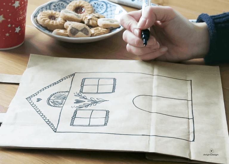 disegno sulla busta per un natala fai da te