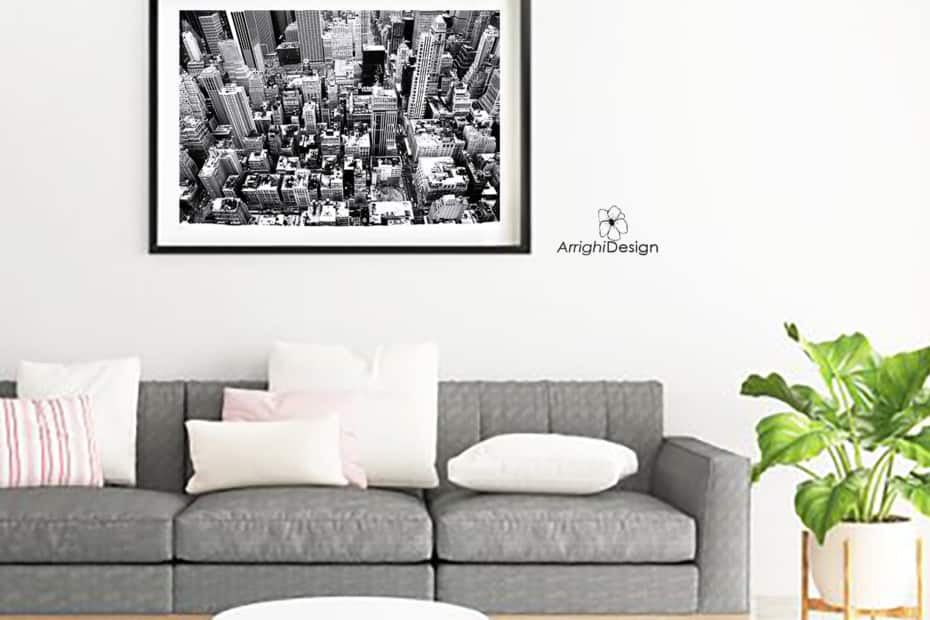 living room photography for art