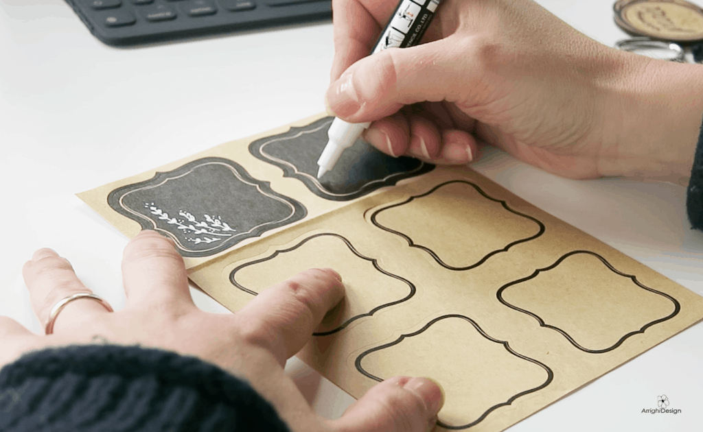 how to draw frames on ikea adhesive labels